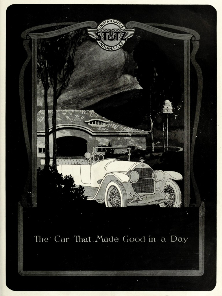 Stutz Motor Company Car Advertisement 1920