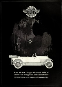 Stutz Motor Company Car Advertisement 1921