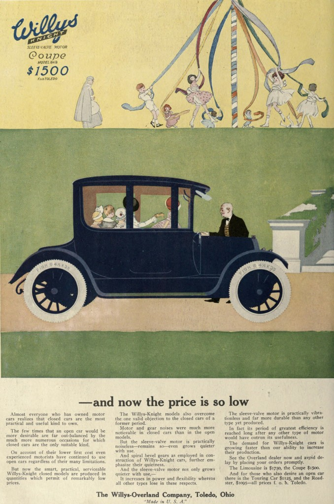 Willys Knight Car Advertisement Coupe 1916