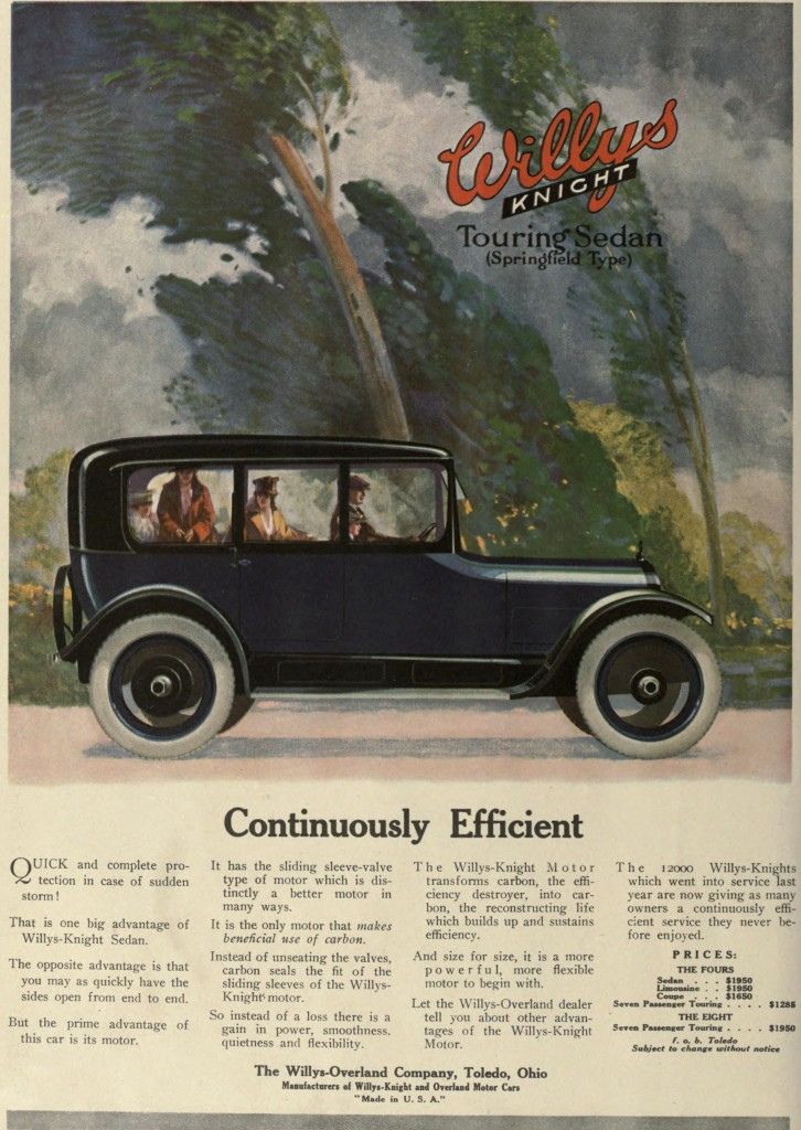 Wind in the Trees Scene - Willys Knight Car Advertisement Touring Sedan 1917