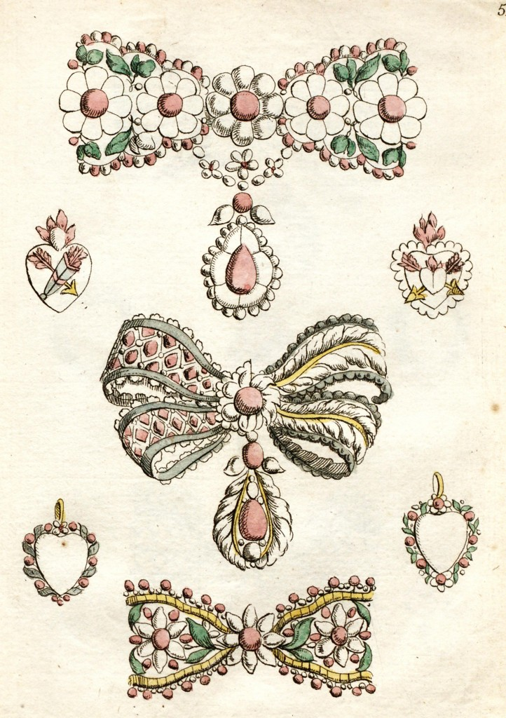 Jewelry Designs in France circa 1762