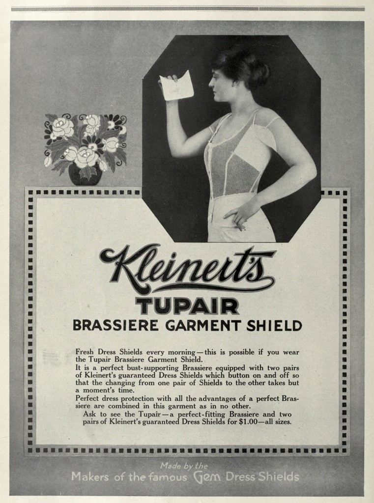 Kleinert's Dress Shields Advertisement circa 1916
