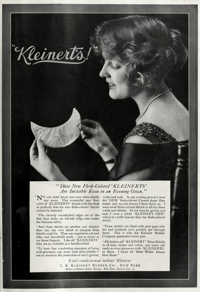 Kleinert's Dress Shields Advertisement circa 1917