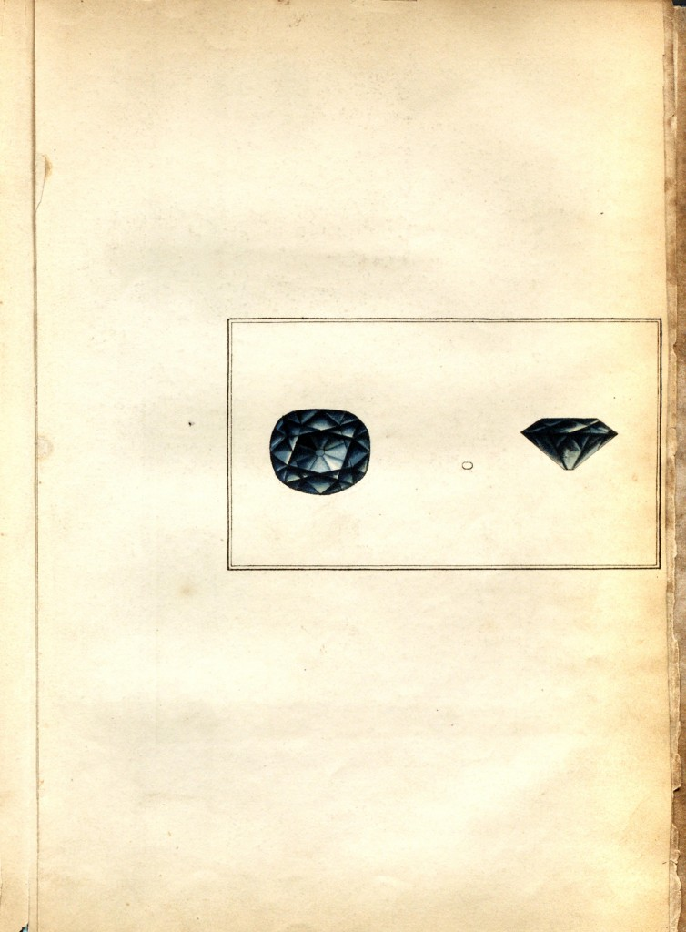 Pigot Diamond Drawing #1 - Christie's London Auction circa May 10, 1802