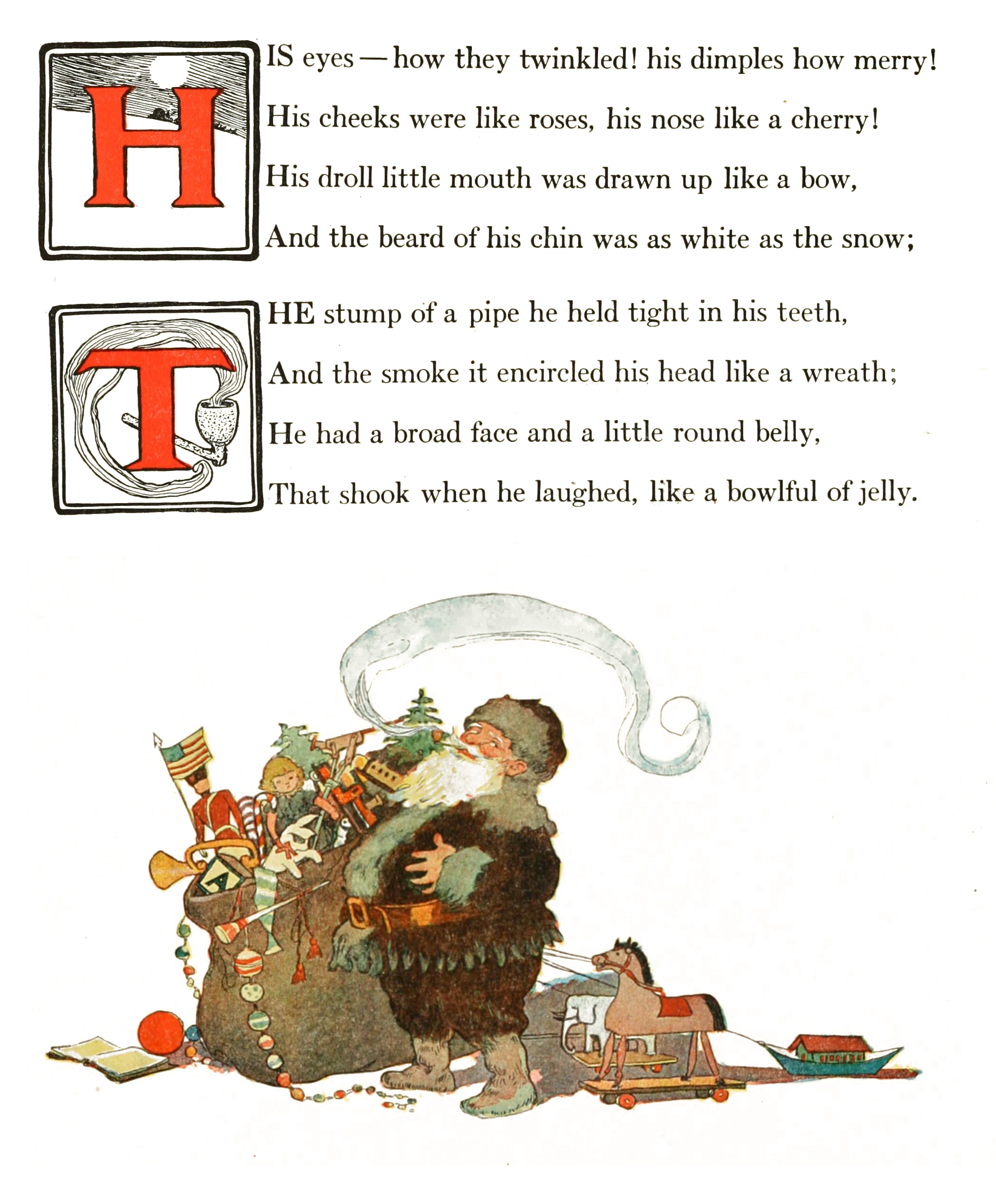twas the night before christmas story panel 8