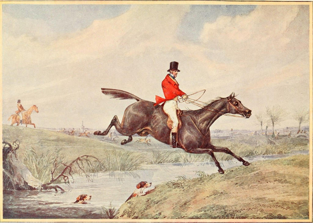 Fox Hunting - Leaping The Brook - After Henry Aiken