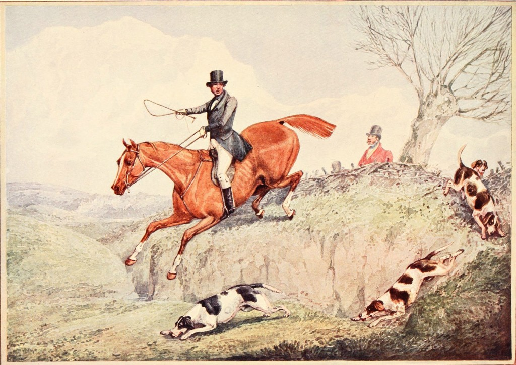 Fox Hunting - The First Over - After Henry Aiken