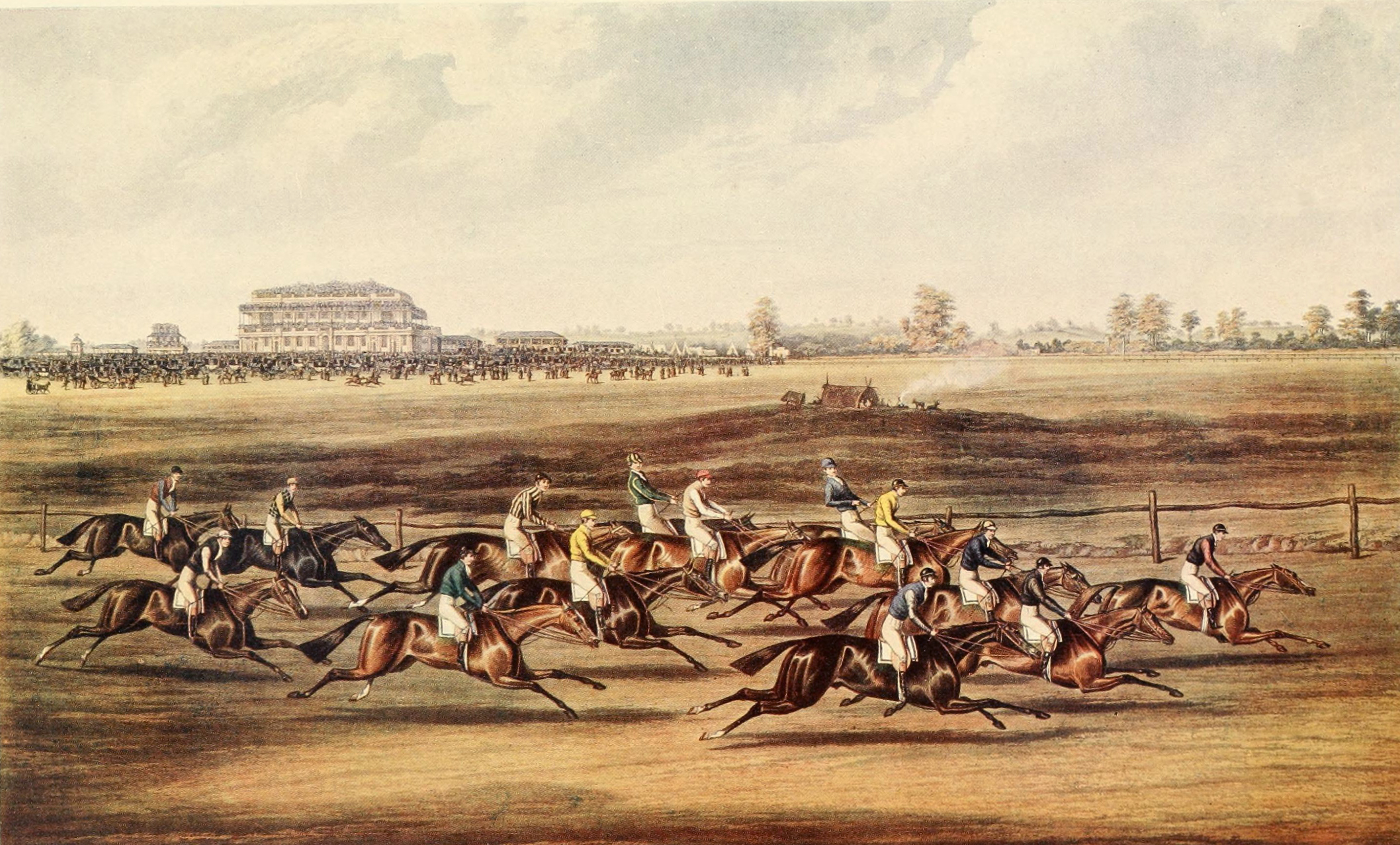 Race-for-the-Great-St-Leger-Stakes-1836-