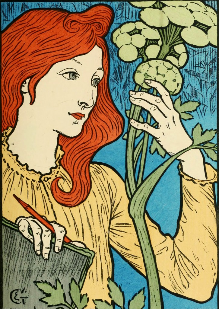 Eugene Grasset Poster with Blue Background