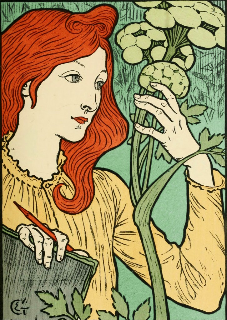 Eugene Grasset Poster with Green Background