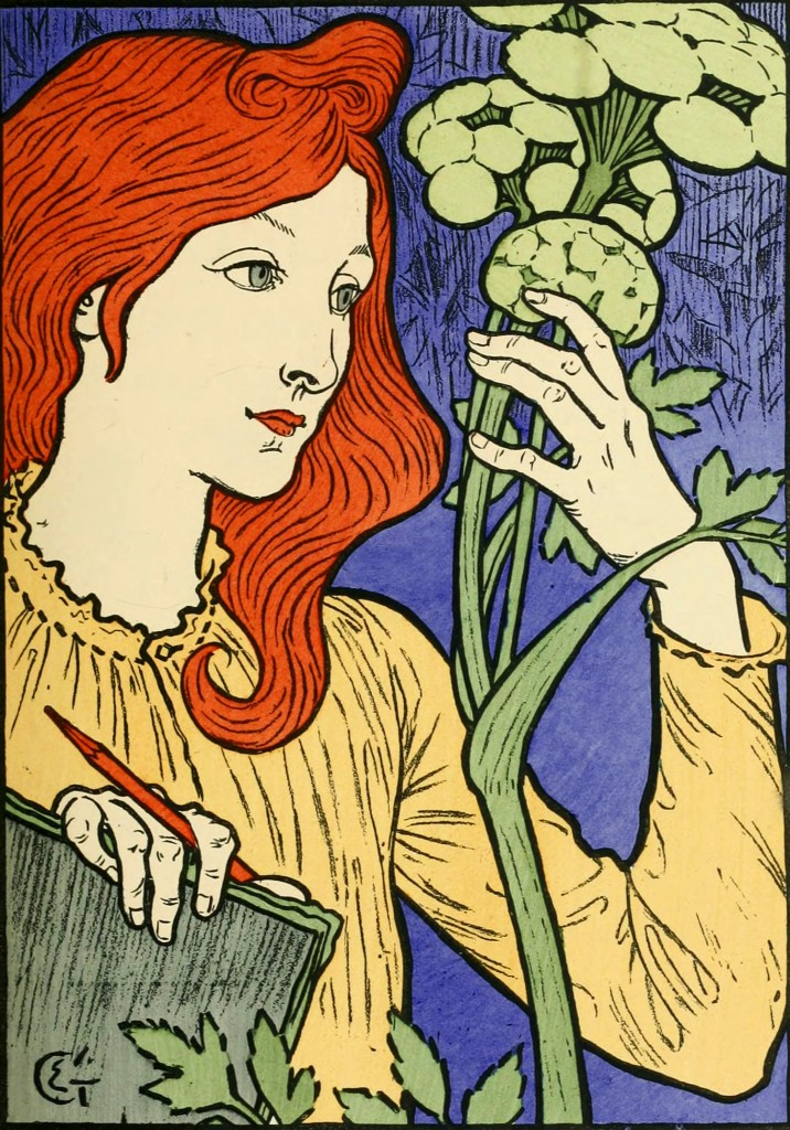 Eugene Grasset Poster with Purple Background