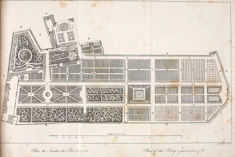Jardin des plantes map circa 1788 - Maison jardin des plantes nantes orleans ...