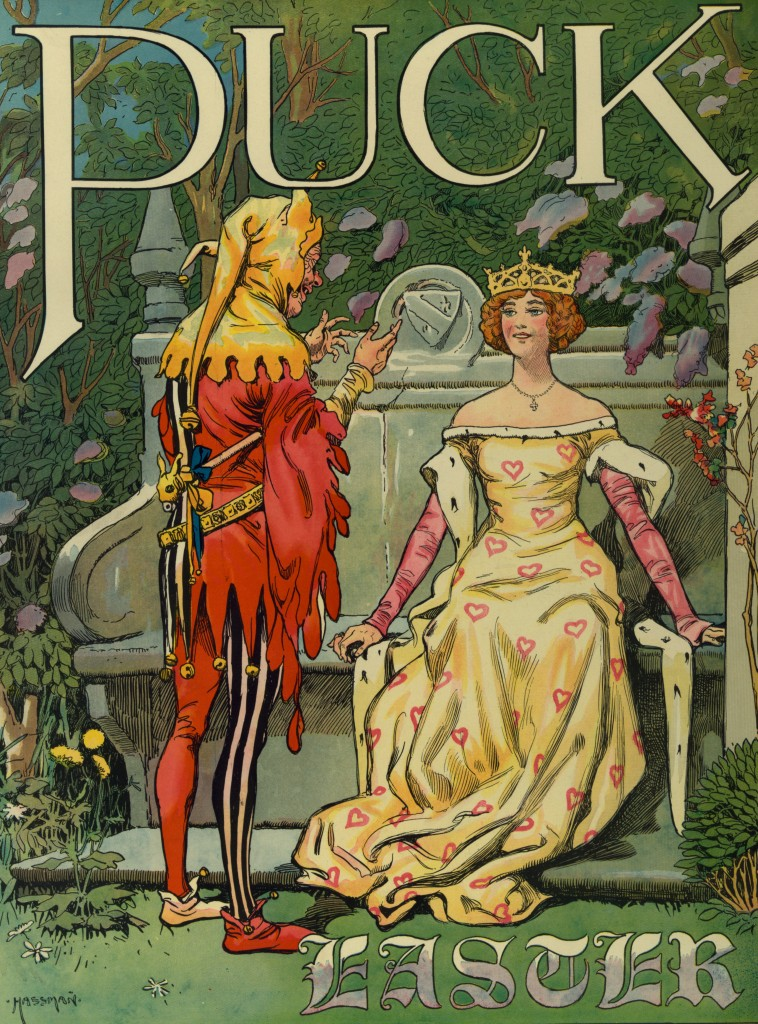 Woman Easter Illustration By Carl Hassmann Circa 1906