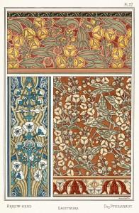 Anna Martin Art Nouveau Illustration: Arrowhead - Sagittaire - Pfeilkraut