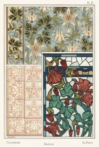 Anna Martin Art Nouveau Illustration: Columbine - Ancolie - Aglei