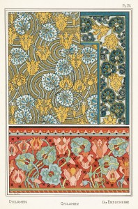 Anna Martin Art Nouveau Illustration: Cyclamen - Erdscheibe