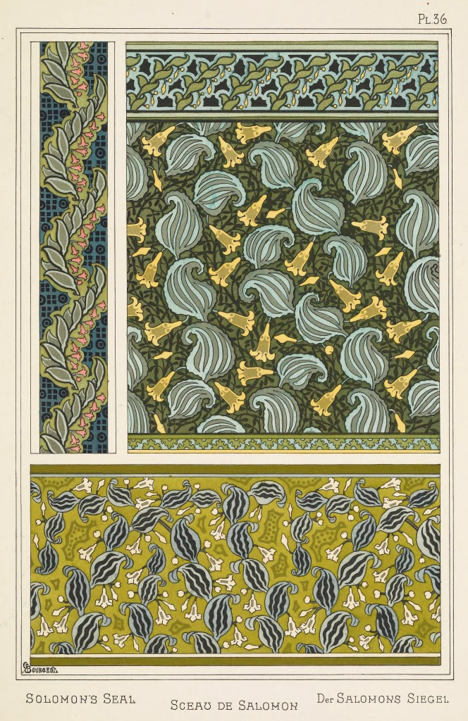 C. Bourgeot Art Nouveau Illustration: Solomons Seal - Sceau De Salomon - Salomons Siegel