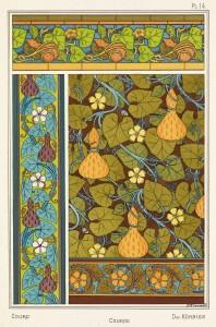 Maurice Pillard Verneuil Art Nouveau Illustration: Gourd - Courge - Kurbiss