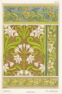 Maurice Pillard Verneuil Art Nouveau Illustration: Jonquil - Jonquille