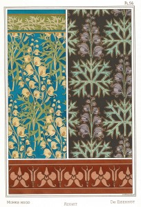Maurice Pillard Verneuil Art Nouveau Illustration: Monks Hood - Aconit - Eisenhut