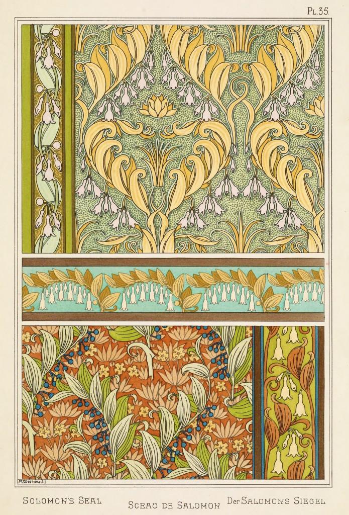 Maurice Pillard Verneuil Art Nouveau Illustration: Solomons Seal - Sceau De Salomon -  Salomons Siegel