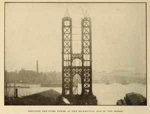Building the Manhattan Bridge from Cassier's 1912
