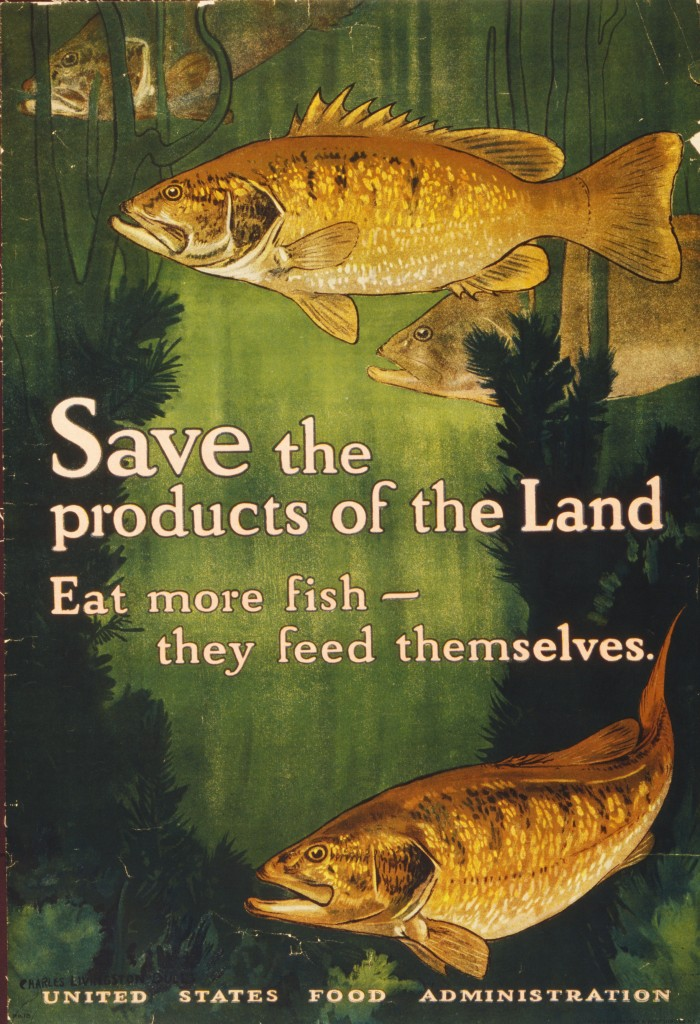 Eat More Fish -- USFA Poster circa 1917