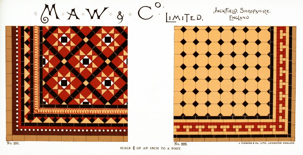 Maw and Co. Tile Design No 5 circa 1890-1900