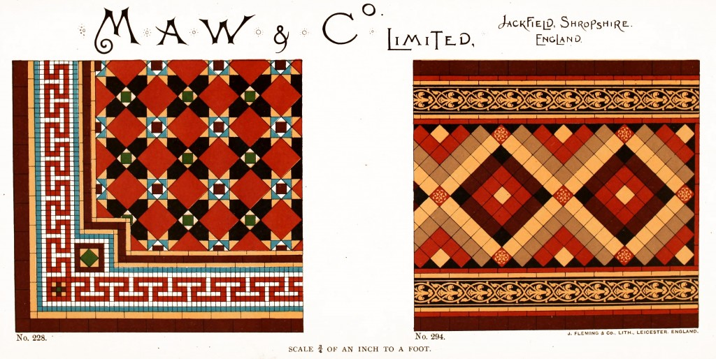 Maw and Co. Tile Design No 9 circa 1890-1900