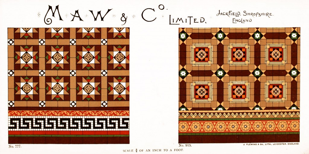 Maw and Co. Tile Design No 10 circa 1890-1900