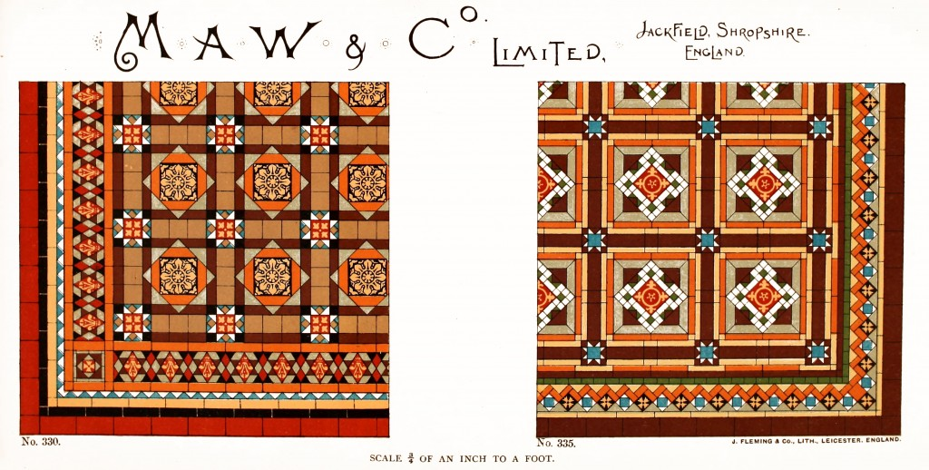 Maw and Co. Tile Design No 11 circa 1890-1900