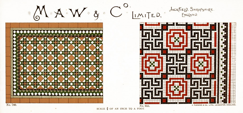 Maw and Co. Tile Design No 12 circa 1890-1900