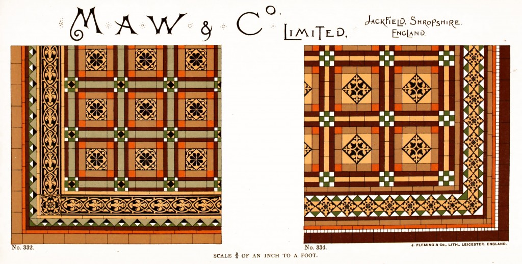Maw and Co. Tile Design No 13 circa 1890-1900