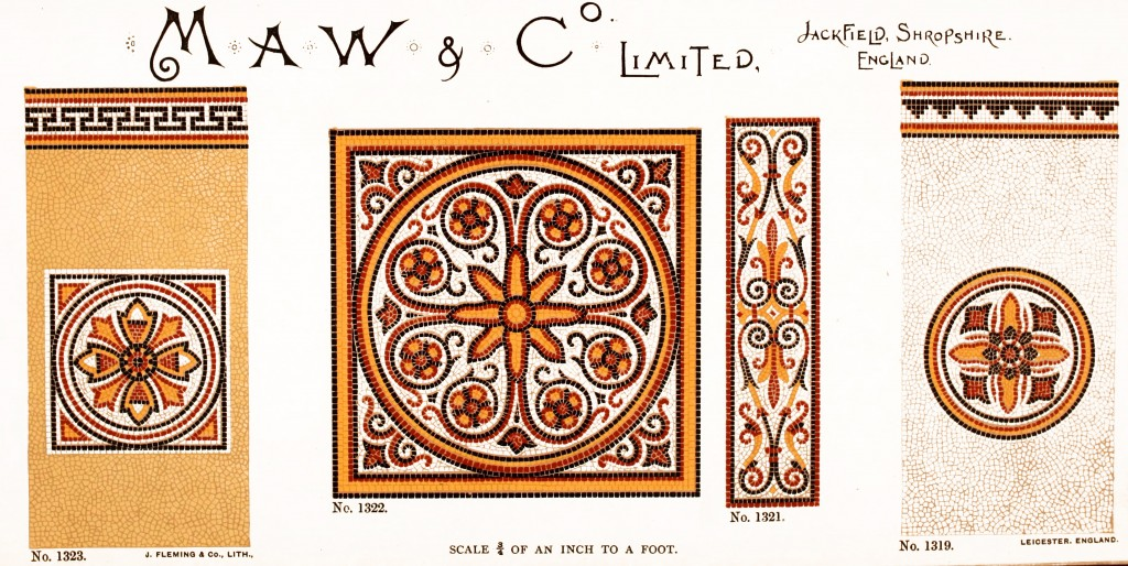 Maw and Co. Tile Design No 14 circa 1890-1900