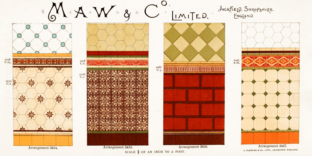 Maw and Co. Tile Design No 16 circa 1890-1900