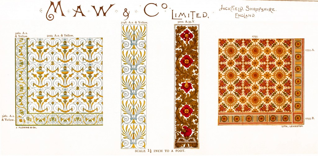 Maw and Co. Tile Design No 19 circa 1890-1900