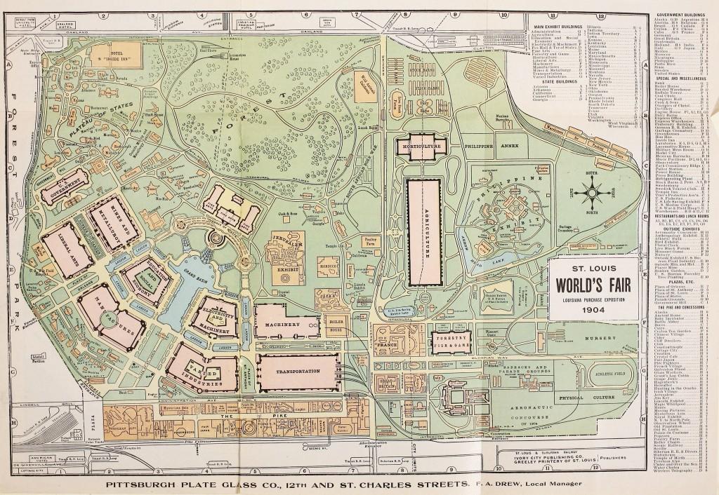 St. Louis World's Fair Map 1904