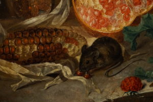 Jan van Os Oil Still Life Painting with Fruit Insects and a Ratdated 1769 Image 10
