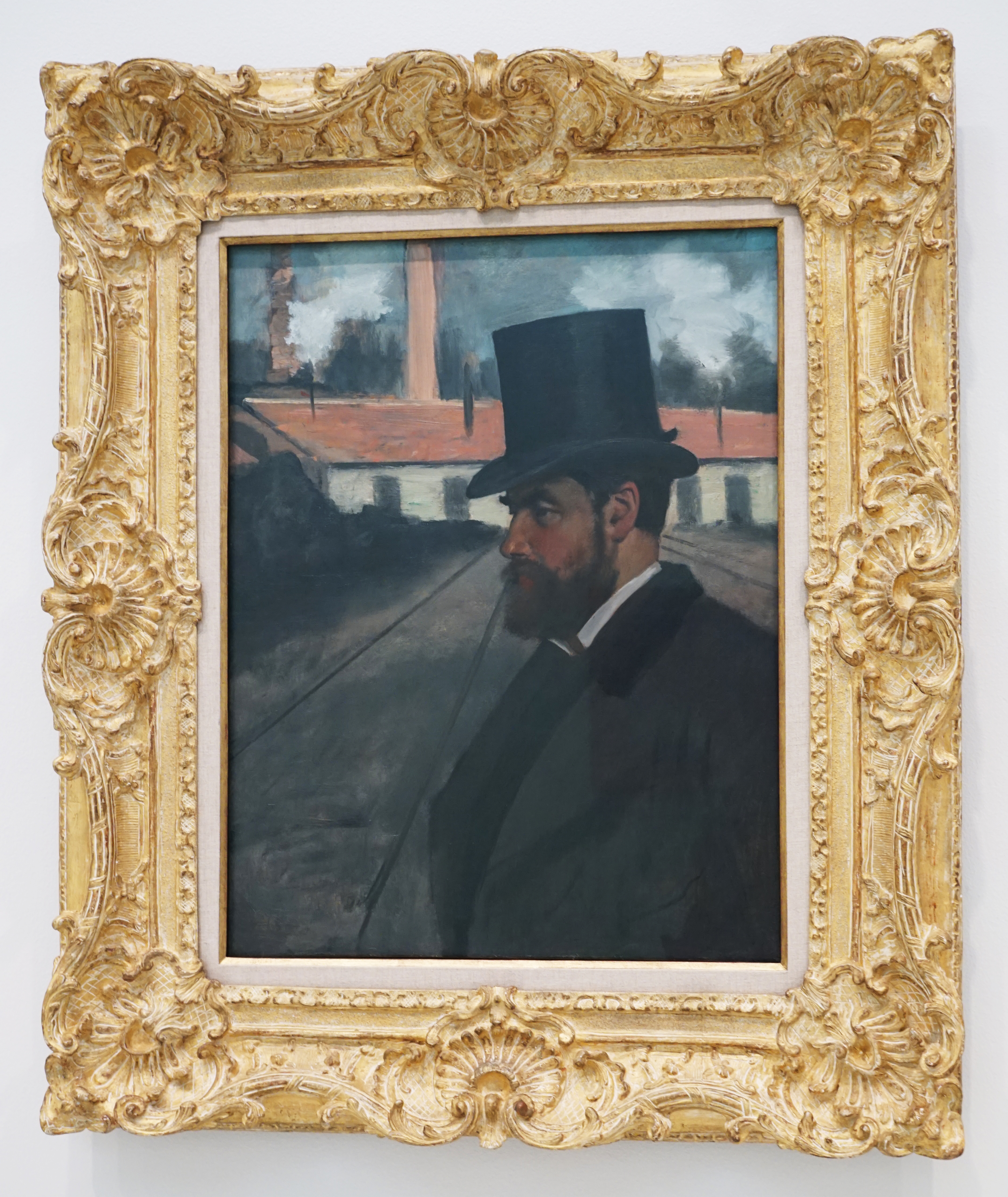 Henri Rouart painted by Edgar Degas at the Carnegie Museum Picture 1