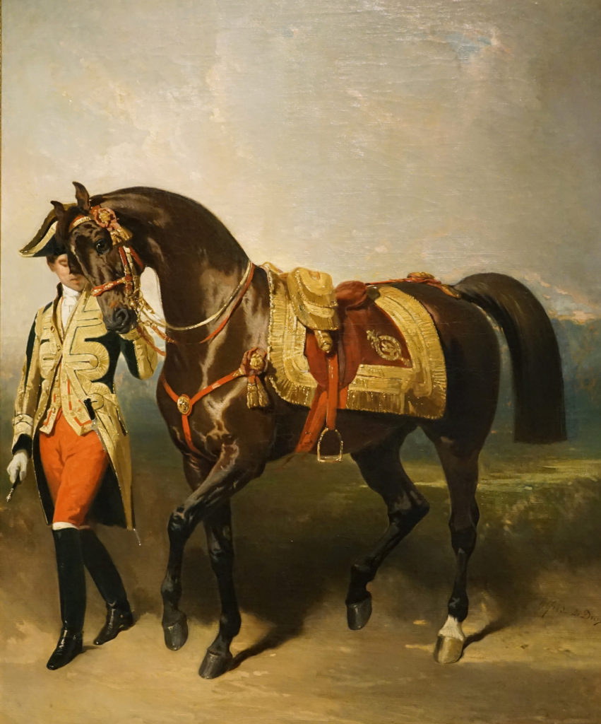 Pierre Alfred de Dreux Oil Painting The Emperor's Horse 1853 Image 1