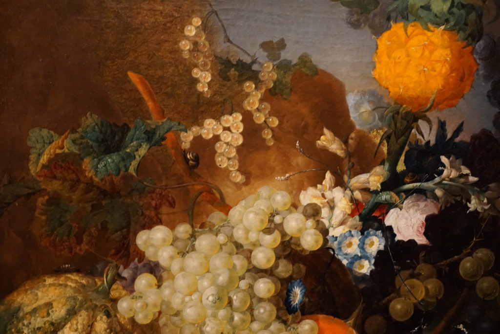 Jan van Os Oil Still Life Painting with Fruit Insects and a Ratdated 1769 Image 1