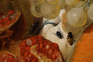 Jan van Os Oil Still Life Painting with Fruit Insects and a Ratdated 1769 Image 11