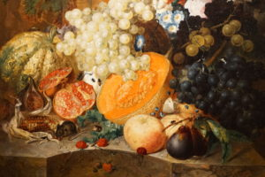 Jan van Os Oil Still Life Painting with Fruit Insects and a Ratdated 1769 Image 2