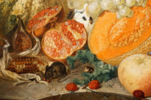 Jan van Os Oil Still Life Painting with Fruit Insects and a Ratdated 1769 Image 4