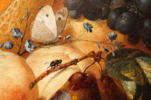 Jan van Os Oil Still Life Painting with Fruit Insects and a Ratdated 1769 Image 5