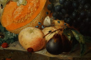 Jan van Os Oil Still Life Painting with Fruit Insects and a Ratdated 1769 Image 7
