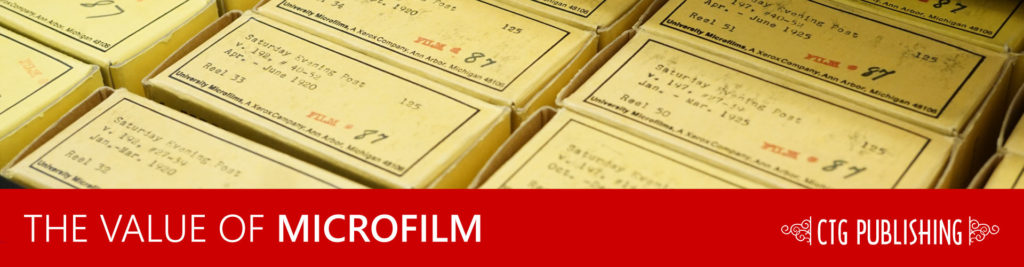 The Value of Microfilm, Microfiche, and Microforms Article Header