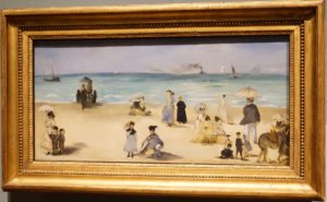 On the Beach Boulogne-sur-Mer by Edouard Manet French Oil dated 1868 image 1