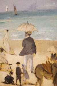 On the Beach Boulogne-sur-Mer by Edouard Manet French Oil dated 1868 image 2