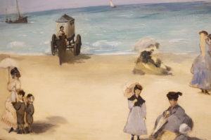 On the Beach Boulogne-sur-Mer by Edouard Manet French Oil dated 1868 image 3